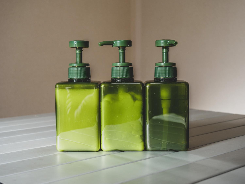 無印良品詰替ボトルグリーン